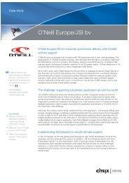 O'Neill Europe/JSI bv - Citrix Online