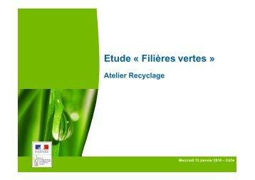 Etude « Filières vertes » - Cd2e