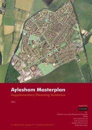 Aylesham Masterplan, Supplementary Planning Guidance