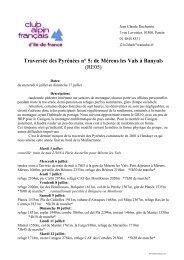 Traversée des Pyrénées n° 5: de Mérens les Vals à Banyuls (RE05)