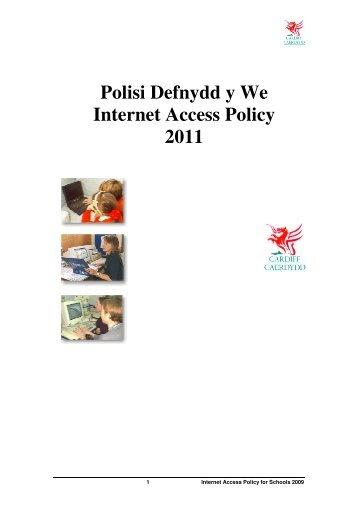 Polisi Defnydd y We Internet Access Policy 2011 - Ysgol y Berllan Deg