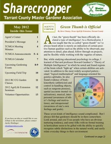 May - (Tarrant County) Master Gardeners Association