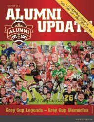 Grey Cup Memories - Canadian Football League Alumni Association