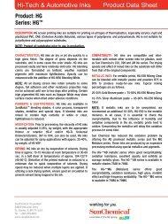 Product Data Sheet Product Data Sheet Hi-Tech & Automotive Inks