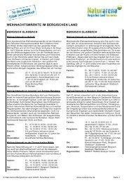 WEIHNACHTSMÄRKTE IM BERGISCHEN LAND - Engelskirchen