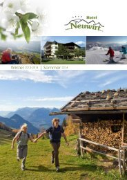 Winter 2013-2014 | Sommer 2014 - Alpbachtal