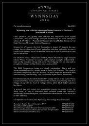 Media Release - Treasury Wine Estates