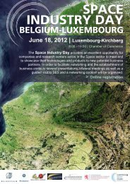 Download the flyer - Luxembourg Space Cluster