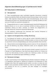 AGBs für den kaufmännischen Verkehr - DCT Delta