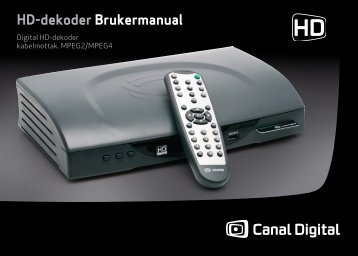 Brukerveiledning Digital HD-dekoder 103 - PDF - Canal Digital ...