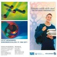 Der SÜD-CHEMIE Förderpreis 2011 - Catalysis Research Center