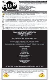 champlain student association election schedule 2013-2014