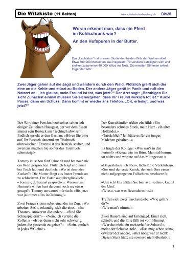Die Witzkiste (11 Seiten) - Mittelschulvorbereitung Deutsch