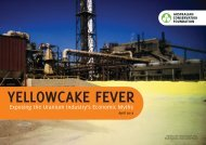 Yellowcake Fever: exposing the uranium industry's economic myths