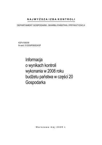 Informacja o wynikach kontroli - Biuletyn Informacji Publicznej   BIP ...