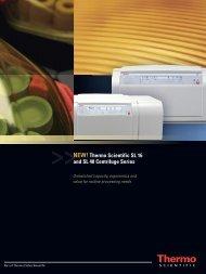 NEW! Thermo Scientific SL 16 and SL 40 Centrifuge ... - CTR Scientific