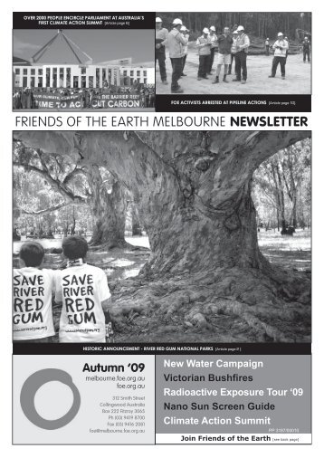 FRIENDS OF THE EARTH MELBOURNE NEWSLETTER