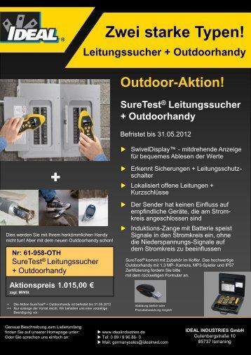Frühjahrsaktion SureTest Leitungssucher - Ideal Industries