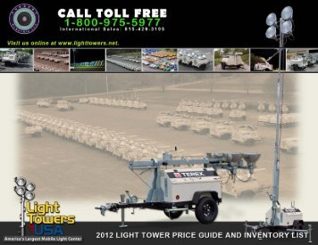 Light Tower Price Guide - Light Towers USA