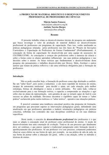 A Produção de Material Didático e o ... - Axpfep1.if.usp.br