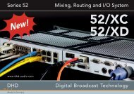 Series 52 Mixing, Routing and I/O System - Dhd-audio.de