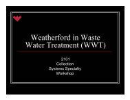 Weatherford in Waste Water Treatment (WWT)