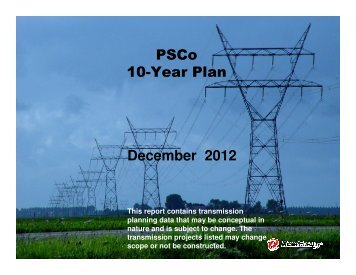 PSCo 10-Year Plan December 2012