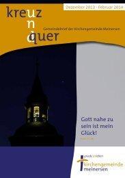 Ausgabe 1/2014 - Kirche-meinersen