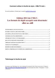 Télécharger la feuille de style - CNRS