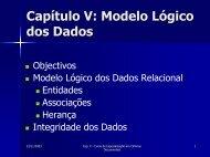 Capítulo V: Modelo Lógico dos Dados