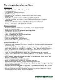 Checkliste Mitarbeitergespräche erfolgreich führen - Werkzeuglade.ch