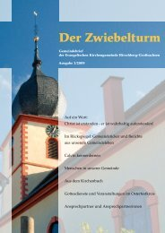 Kasualien - Kirchliche Amtshandlungen - derzwiebelturm.de
