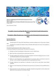 General and Specific Objectives of the World Youth Parliament for ...
