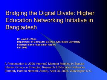 Bridging the Digital Divide - Networking and Media Communications ...