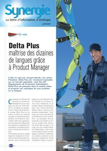 Delta Plus maîtrise des dizaines de langues grâce à ... - Ordirope