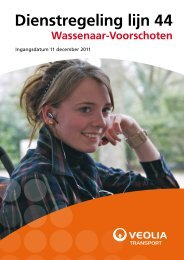 Dienstregeling lijn 44 - Veolia Transport Nederland