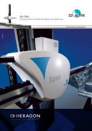 DEA TORO Horizontal-Arm Coordinate Measuring Machines - KODA