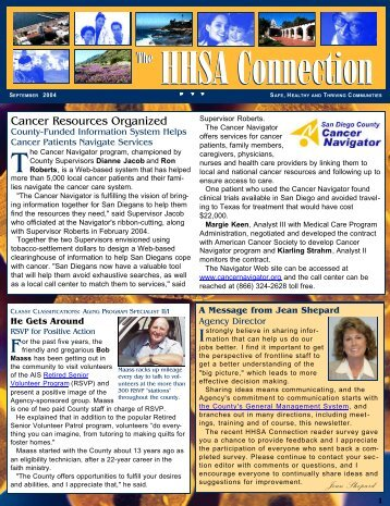 The HHSA Connection HHSA Connection - County of San Diego