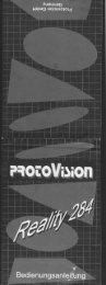 Benutzerhandbuch für Protovision Reality 284