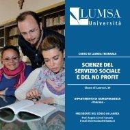 Scienze del servizio sociale e del no profit (Palermo S ... - Lumsa