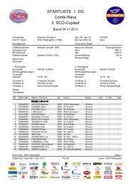 Startliste 1. DG
