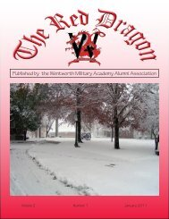 Red Dragon Vol 2 Issue 1 - Wentworth Military Academy & College