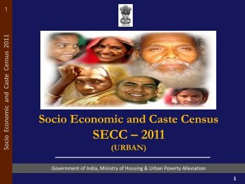 Socio Economic and Caste Census SECC - 2011 - Ministry of ...