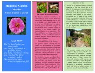 Memorial Garden Brochure - Urbandale United Church of Christ