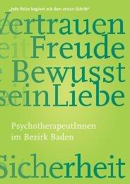 PsychotherapeutInnen im Bezirk Baden