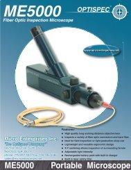 OPTISPEC ME5000 Portable Fiber Optic Microscope