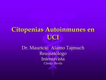 Citopenias Autoinmunes en UCI