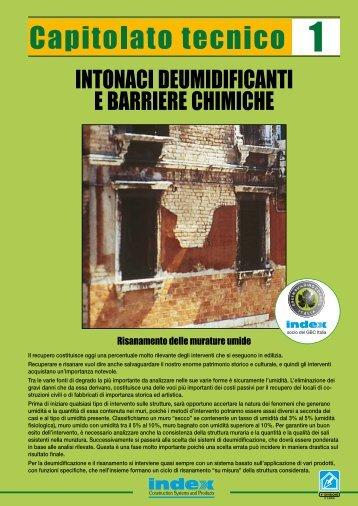 risanamento delle murature umide con intonaci ... - Index S.p.A.