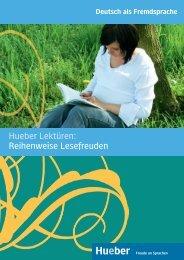 Hueber Verlag - Lektürenprospekt 2009