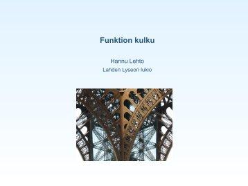 Funktion kulku (kalvot - Lahti